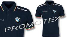 polo BMW MOTORRAD cotone tricolore italia racing maglietta sbk moto corse