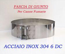 FASCIA DI GIUNTO  FASCIA STRINGITUBO X CANNE FUMARIE ACC. INOX 6 dc VARI DIAMETR