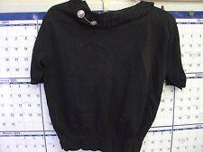 Vintage Ladies Black Nylon Top-Used