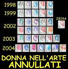 Italia Donna nell'arte Tutte le emissioni Annulalte 1998 1999 2002 2003 2004