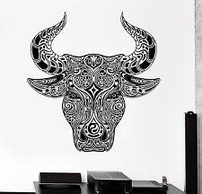 Wall Decal Animal Ornament Bull Aggressive Vinyl Decal (z3149)