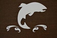 18cm COARSE FISHING FISH ANGLING CAR STICKER DECAL TACKLE BOX OFF CENTRE DESIGN