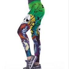 S-XL Wide belt Legging Nightmare before Christmas Jack printed legging 1112