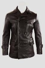 German Submariner WW2 Vintage Men's Black Real Leather Jacket Coat - All Sizes