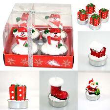 Christmas Decorative Novelty Candles Natural -4 Candle Set Christmas Decorations