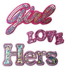 Mots d'amour hers sweet girl fer coudre sur appliques patches brodé chic diy
