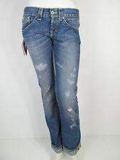 Dondup Hose Denim Jeans Hose UP191Y 800 Music Annapurna Pantalone Blau Neu