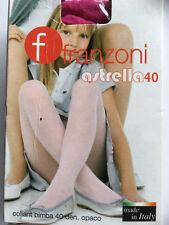 Kinder Strumpfhose 40den Franzoni, Farben, Haut, schwarz, blau, grau, pink