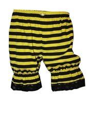 abeja amarillo y Negro Rayas Corto bombachos Pantalones AÑOS 80