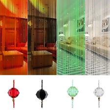 String Bead Curtain Divider Crystal Fringe Door Bedroom Window Tassel Decor 1*2m