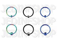 BCR Hoop CBR - 1.2mm (16g) - 12mm - Titanium Anodised - Ball Closure Ring