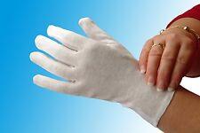 White Cotton Gloves Liners Moisturising Eczema Butler Beauty Magician