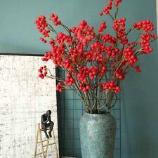 Fake Artificial Rose Fruit Pomegranate Berries Bouquet Floral Garden Home Decor