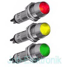 LED Signallampe Signalleuchte Kontrollleuchte Leuchtmelder 12V 230V  8mm konkav
