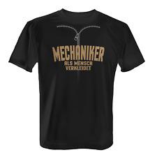 Mechaniker Herren T-Shirt Fun Shirt Mensch Verkleidung Kostüm Karneval Fasching