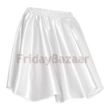 White | Women Lady Satin Pleated Retro Waist Shiny Mini Skirt S~3XL | 27 Color