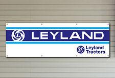 Banner logotipo de PVC Leyland tractores para su taller garaje o cueva de hombre