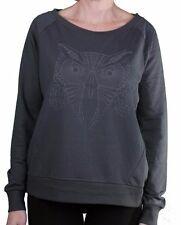 Bench Womens Gray Oakfield Wise Owl Print Overhead Sweatshirt BLEA3367 NWT