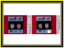 "Harley Davidson Earrings ""Roses/Leaf Design""(2)Variations-H123G/S-PE"