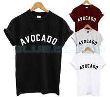 Avocado T Shirt Top Fashion Blogger Slogan Carino Tumblr Vegan Cibo Vegetariano NUOVO