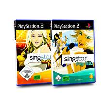 2 PlayStation 2 Spiele : SINGSTAR HOTTEST HITS + SINGSTAR POP HITS  Spielebundle