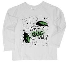 """Dirty Fingers Garçons Haut Manches Longues T-Shirt """"Don'T M'énerver"""" Insectes"""