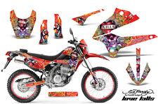 AMR RACING MX BACKGROUND STICKERS D TRACKER KAWASAKI KLX 250 08-12 ED HARDY LKR