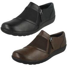 Ladies Clarks Leather Everyday Cushion Soft Flat Shoes - Medora Gale