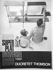PUBLICITÉ DUCRETET THOMSON TÉLÉVISEUR 54 CM SUPER PLAT UNIVERSEL T.5124