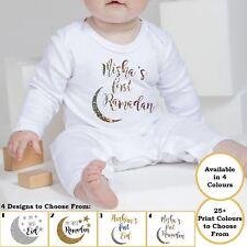 New Babies Personalised Eid Ramadan Rompasuit Festive Occasion Baby Romper Gift