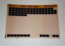 Microfich Ersatzteilkatalog Honda ATC 125 MG Stand 04/1986