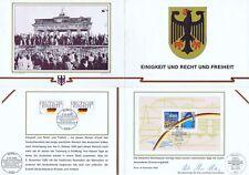 BRD 1990: Deutsche-Einheit-Erinnerungsblatt mit Block Nr. 22 + Nr 1477+1478! 159