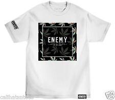 ENEMY OF THE STATE T-shirt POP BLOCK Marijuana Smoking Weed Tee Adult L-3XL New