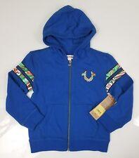 True Religion Boy's Hoodie Varsity Jacket Royal Blue Nwt B7