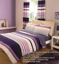 Contemporary Stripes Purple Duvet Covers Quilt Covers Reversible Bedding Sets