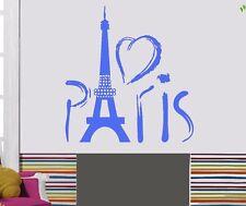 Wall Stickers Vinyl Decal Paris Eiffel Tower Europe Tourist Mural (z706)