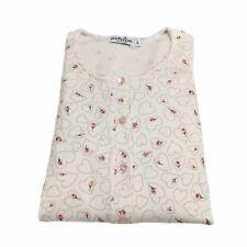 AMICA camisón mujer blanco/rosa mod 72A363 CAL 100%algodón MADE IN ITALY