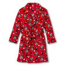 Disney Minnie Mouse Plush Bathrobe Bath Robe Pajama Girl Size S 6/6X M 7/8