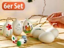 Oster-Keramik-Eier zum Selbstbemalen - 6er-Set - NEU