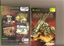 Gladiator Sword of Vengeance xbox/X BOX RARE Coté 18