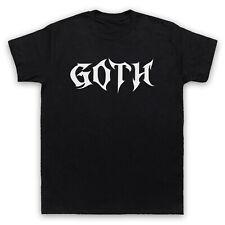 Goth eslogan Metal Hardcore Música Rock Gótico para Hombre Mujer de Moda Niños Camiseta