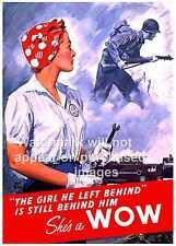 She's a Wow, WW2 Propaganda poster, , Wall art, Reproduction.