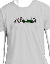 """Lotus 7 Caterham seven """"Evolution of Man breakdown"""" t-shirt"""