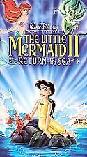 Walt Disney's Little Mermaid 2 II Return to the Sea (VHS, 2000) EUC clamshell