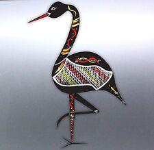 brolga Aboriginal artist Vinyl cut Car boat Sticker Australian crane design Bird