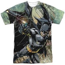Batman Catch Catwoman DC Comics Allover Sublimation Licensed Adult T Shirt