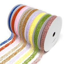 Glitter Web Mesh Ribbon, 5/8-Inch, 25 Yards