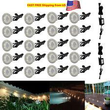 10/20Pcs 45mm 12V Warm White Garden Yard Decor LED Deck Rail Stair Soffit Lights