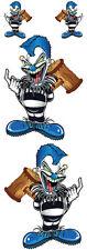 Aufkleber Set Modell Mallet Clown Größe je ca. 9,2 x 7,0 cm