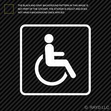 (2x) Handicap Sticker Die Cut Decal Self Adhesive Vinyl wheelchair accessible #2
